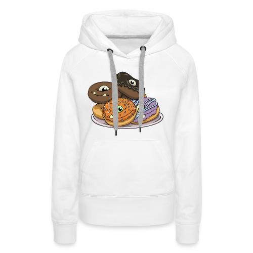Monster Donuts Mug - Women's Premium Hoodie