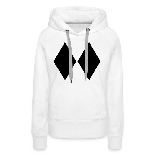 Double Black Diamond - Women's Premium Hoodie