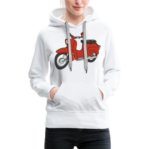 Schwalbe, ibiza-red scooter from GDR - Women's Premium Hoodie