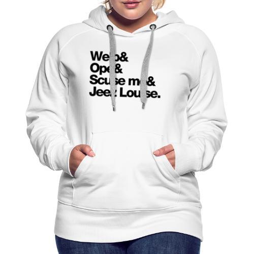 Midwest Series: Welp (Black) - Women's Premium Hoodie