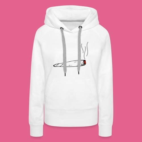LIT WHITE BLACK GREY AND RED JOINT - Women's Premium Hoodie