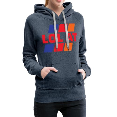 LOL AT Retro Stripes - Women's Premium Hoodie