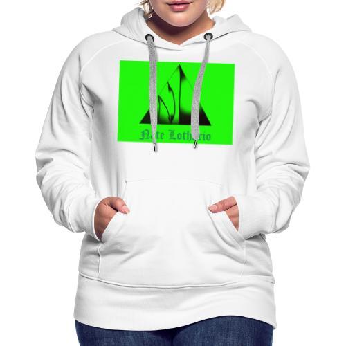 Lime Green Logo - Women's Premium Hoodie