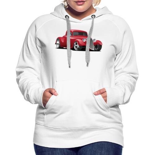 Custom American Red Hot Rod Car - Women's Premium Hoodie