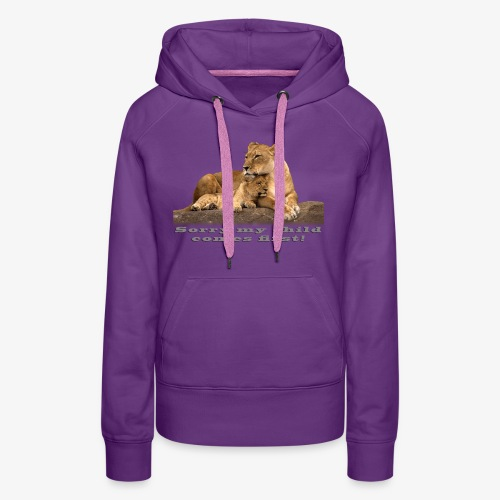 Lion-My child comes first - Women's Premium Hoodie