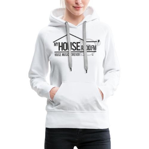 My House Radio Black Logo - Women's Premium Hoodie
