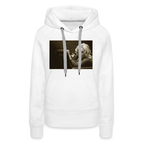 woman lying on the couch,fashion Classic Vintage 1 - Women's Premium Hoodie