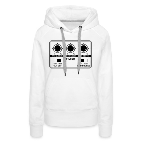 Synth Filter with Knobs - Women's Premium Hoodie