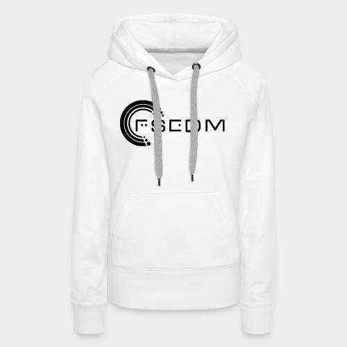 FSEDM 2015 Logo Black png - Women's Premium Hoodie