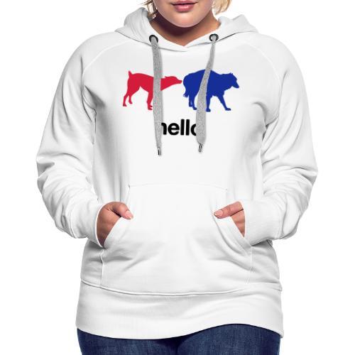 Hello - Women's Premium Hoodie