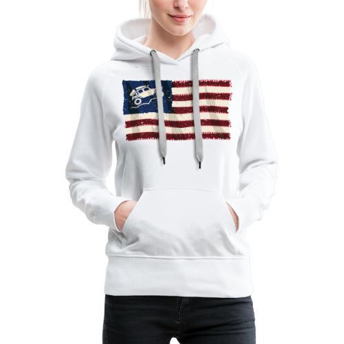 American Off Road 4x4 Overland Flag - Women's Premium Hoodie