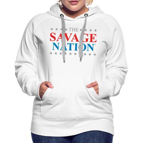 The Savage Nation Logo - Women's Premium Hoodie