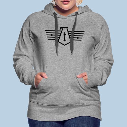 Westport Bird black on transparent - Women's Premium Hoodie