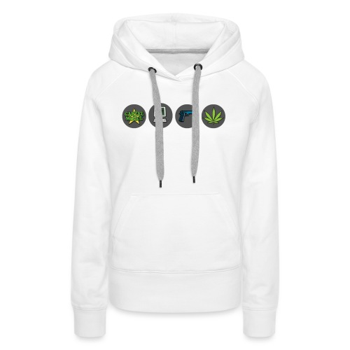 Cartel Mogul Game Icons - Women's Premium Hoodie