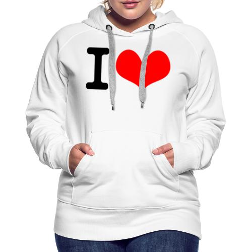I Love what - Women's Premium Hoodie