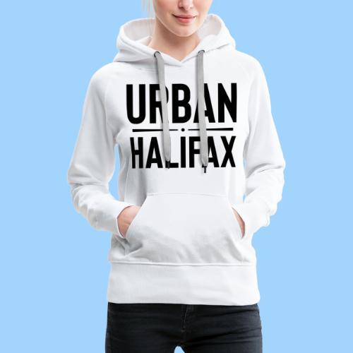 Urban Halifax logo (Black) - Women's Premium Hoodie