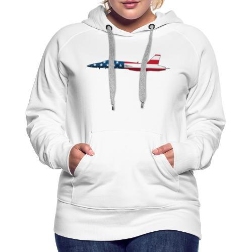 American Flag Military Jet - Women's Premium Hoodie