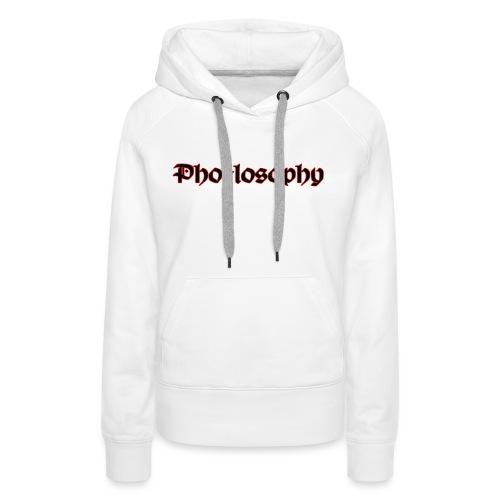 Pholosophy WordMark - Women's Premium Hoodie