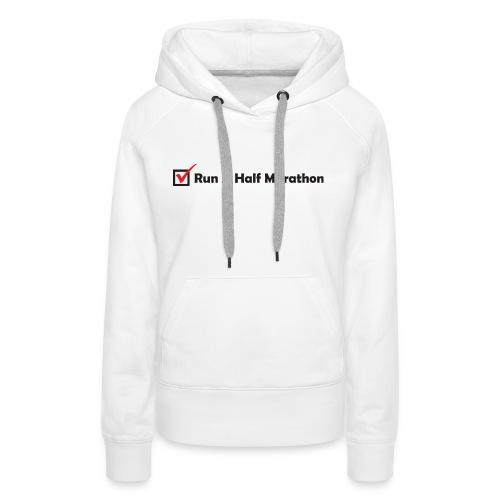 RUN HALF MARATHON CHECK - Women's Premium Hoodie
