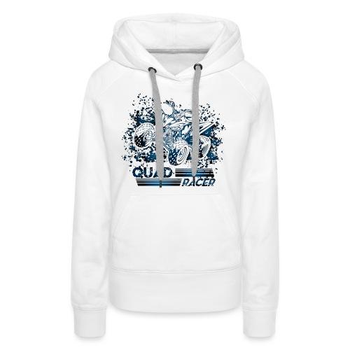 Blue Quad Racer Grunge - Women's Premium Hoodie