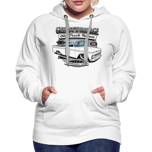 Greasy's Garage Old Truck Repair - Women's Premium Hoodie