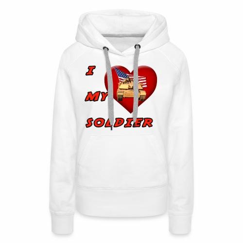 I Heart my Soldier - Women's Premium Hoodie