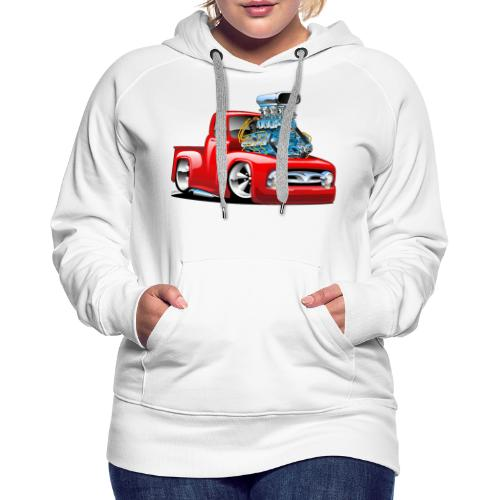 American Classic Hot Rod Pickup Truck Cartoon - Women's Premium Hoodie