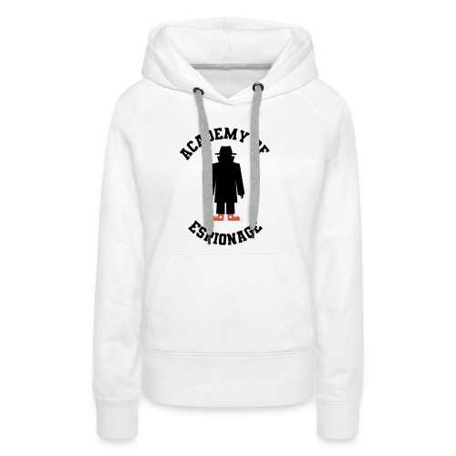 Academy of Espionage curved text and logo - Women's Premium Hoodie