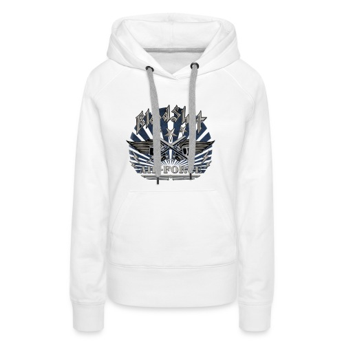 BloodShot Air Force with black - Women's Premium Hoodie