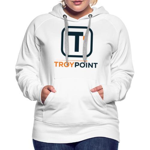 TROYPOINT Navy Logo - Women's Premium Hoodie