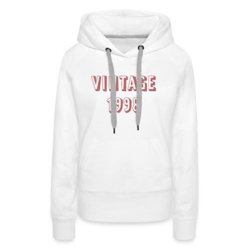 Vintage 1998 (rose design) 21st birthday - Women's Premium Hoodie