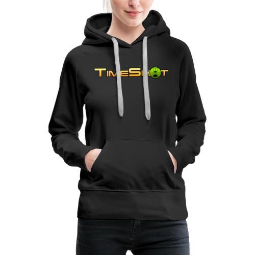 TimeShot Logo Text - Women's Premium Hoodie