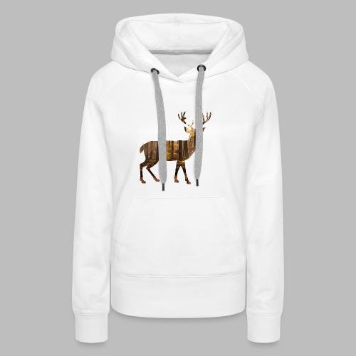 deer silhoutte - Women's Premium Hoodie