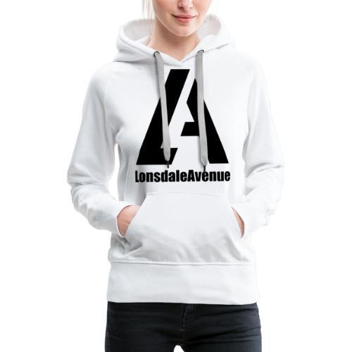 Lonsdale Avenue Logo Black Text - Women's Premium Hoodie