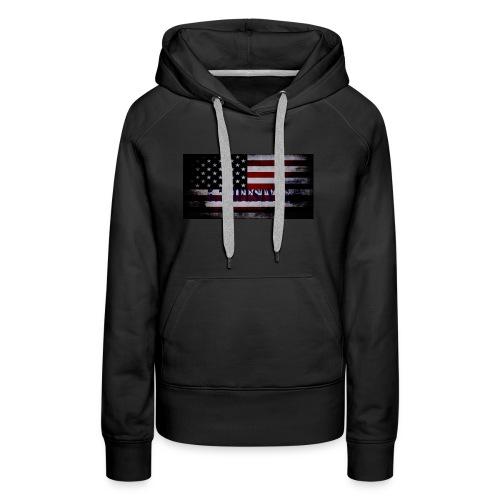 AMERICAN FLAG - Women's Premium Hoodie