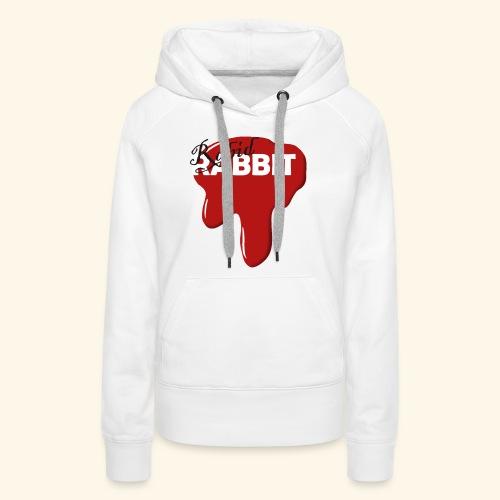 Fake Band Logo RABID RABBIT - Women's Premium Hoodie