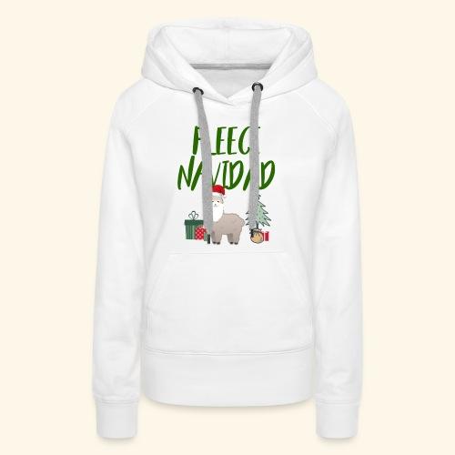 FLEECE Navidad Christmas lama Tee - Women's Premium Hoodie