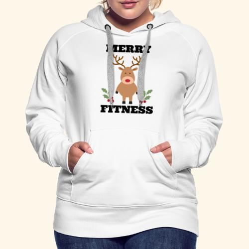 merry fitness Christmas Tee - Women's Premium Hoodie