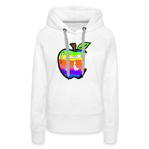 Apple Pi Rainbow:Think Irrationally - Women's Premium Hoodie