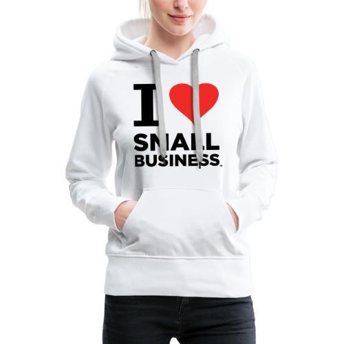 I Heart Small Business (Black & Red) - Women's Premium Hoodie