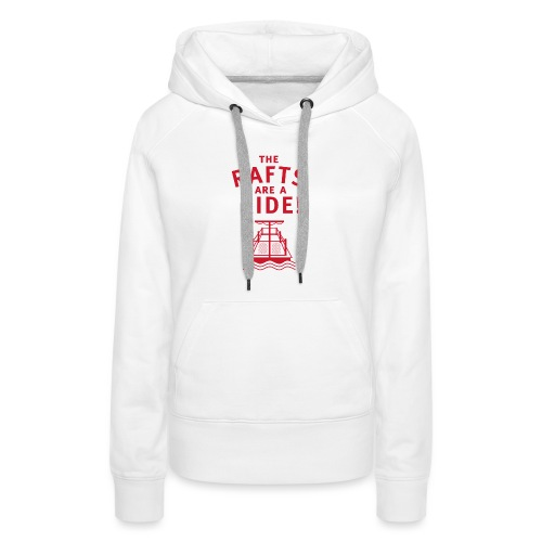 Traveling With The Mouse: Rafts Are A Ride (RED) - Women's Premium Hoodie