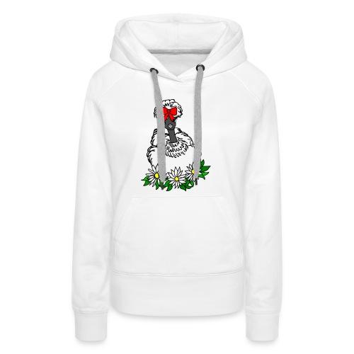 Silkie Showgirl Chicken Hen - Women's Premium Hoodie