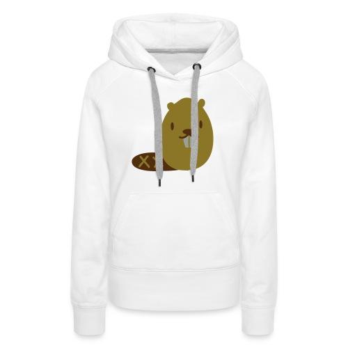 Cute Beaver - Women's Premium Hoodie