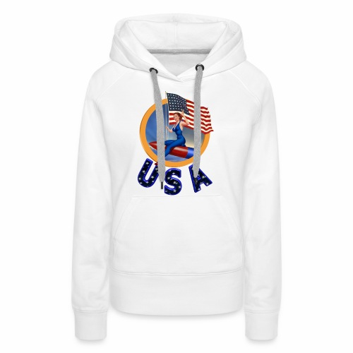 Flag USA - Women's Premium Hoodie