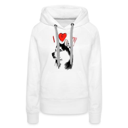 I Love My Siberian Husky - Women's Premium Hoodie