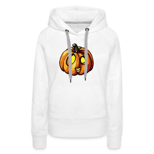 Pumpkin Halloween watercolor scribblesirii - Women's Premium Hoodie