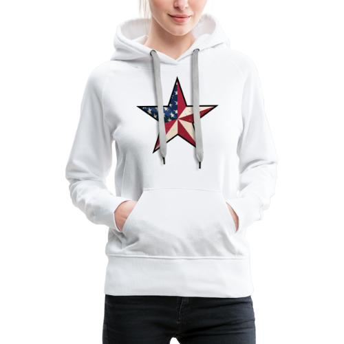 American Patriot Barn Star - Women's Premium Hoodie