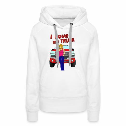 Girls Love Trucks Too - Women's Premium Hoodie