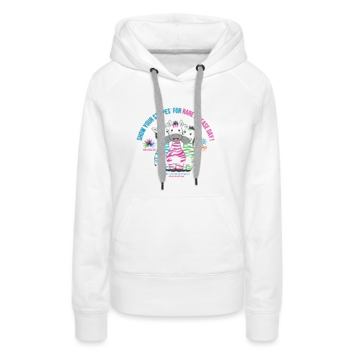 Show Your Stripes for Rare Disease Day! - Women's Premium Hoodie