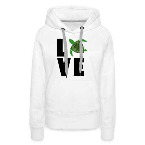 I Love Turtles - Women's Premium Hoodie